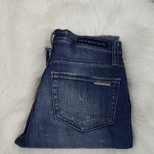 Super Cute Raw Hem Rock & Republic Ankle Jeans
